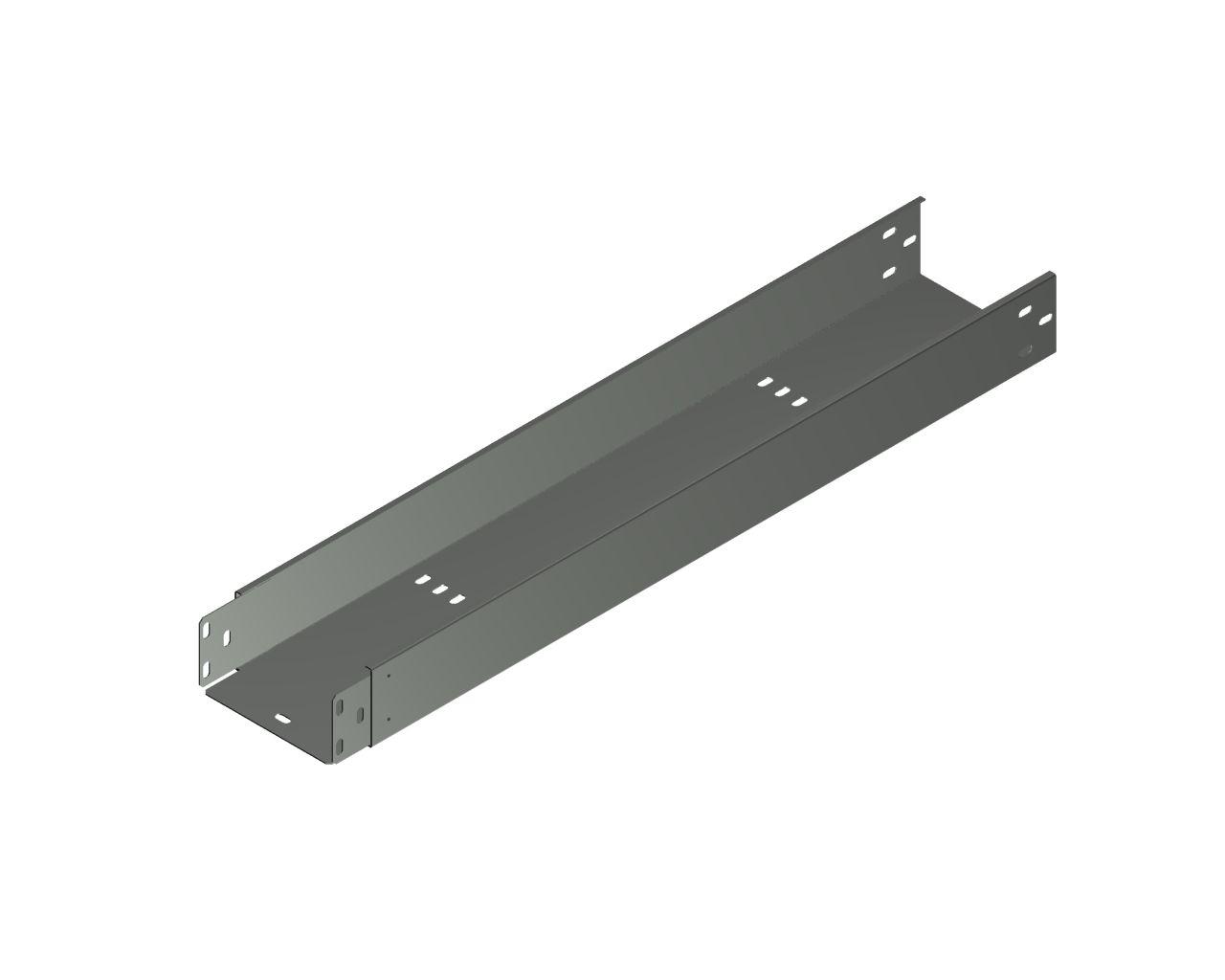 Kabelrinne mit dem angeschweißten Verbinder KLC